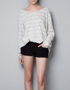 STRIPED FINE KNIT SWEATER - Knitwear - TRF - ZARA United States ✿  ✿ ✿ ☂