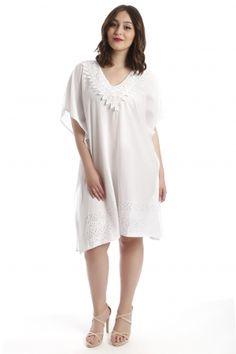www.happysizes.gr #summer #woman #fashion Summer Swimwear, Woman Fashion, White Dress, Accessories, Dresses, Women, Women's Work Fashion, Vestidos