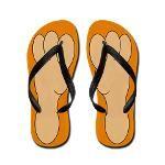 Bare feet Flip Flops $16.79