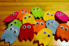 PacMan Ghost Brooches - Made to Order £5.00