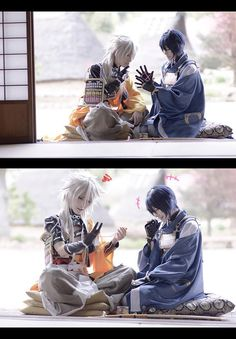 Character : Kogitsunemaru & Munechika Mikazuki__ by Nakoto (https://twitter.com/nakoto24)