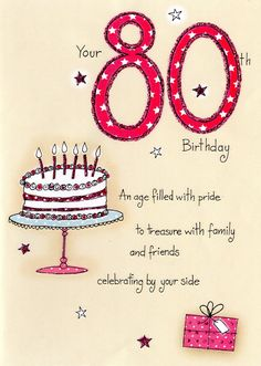 80th Birthday Wishes What To Write In An Card Cards