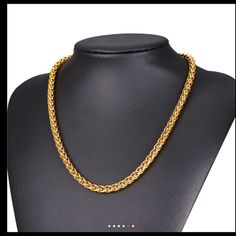 Chain Men Style Shop Men's size Jewelry at a discounted price at Poshmark. Description: Brand new real gold plated chain fit for men stamps chain size for Sold by Fast delivery, full service customer support. Real Gold Jewelry, Golden Jewelry, Vintage Jewelry, Fine Jewelry, Unique Jewelry, Gold Chain Design, Gold Jewellery Design, Gold Earrings Designs, Necklace Designs