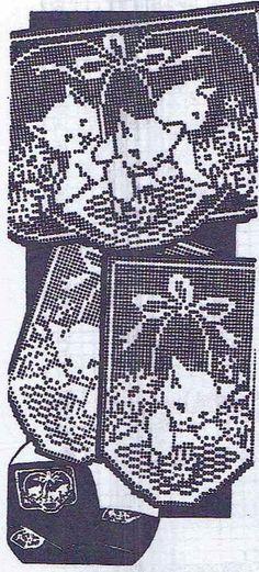 Vintage Crochet PATTERN 2125 Chair set Filet di BlondiesSpot