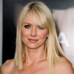 long angled bob with side swept bangs | Naomi Watts's Graphic Cut - July 2010 - Hair Look of the Day - Beauty ...