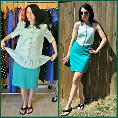 Technically, this is supposed to be Q&A Monday.I could either answer a question, or show you a fun refashion from my fabulous St. Thrift Shop Outfit, Thrift Store Outfits, Thrift Stores, Thrift Clothes, Fashion Tips For Women, Diy Fashion, Fashion Ideas, New Frock, Cute Dresses