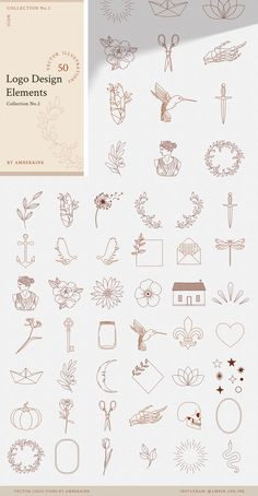 You asked for a bundle and here it finally is! LOGO DESIGNERS BUNDLE - and just in time for Black Friday and Cyber Monday shopping event! This bundle consists Mini Tattoos, Cute Tattoos, Small Tattoos, Line Art Tattoos, Tattoo Flash Art, Awesome Tattoos, Inspiration Tattoos, Logo Design Inspiration, Bauch Tattoos