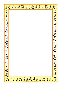 Musical notes A4 page borders (SB7712) - SparkleBox