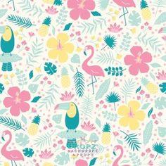 Tropical Flamingo Toucan  #dropz #backdrop #backdrops #scenicbackground #dropzbackdropsaustralia #cakedrops #photographybackdrop #photobackdrop #studiobackdrop #photobackground