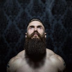 Brendan Gregory Bourassa - full thick beautiful dark beard beards bearded man men tattoos tattooed muscles fit viking vikings bearding #beardsforever