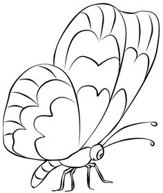 Butterfly Coloring Pictures # | butterfly nails | Pinterest ...