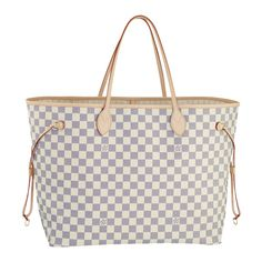 Neverfull GM [Model: N51108 Color: Beige Material: Damier Azur Canvas Size: 15.5 x 12.8 x 7.9 ] - $235.99 : Louis Vuitton Handbags,Louis Vuitton Bags,Cheap Louis Vuitton