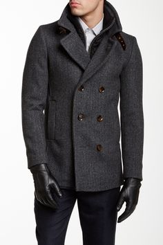 Ted Baker London | Double Breasted Wool Blend Coat | Nordstrom Rack