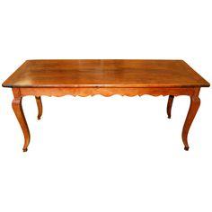 19th Century French Cherry Farmhouse Table