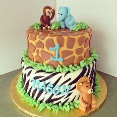 Jungle Cake by 2tarts Bakery / New Braunfels, Texas / www.2tarts.com