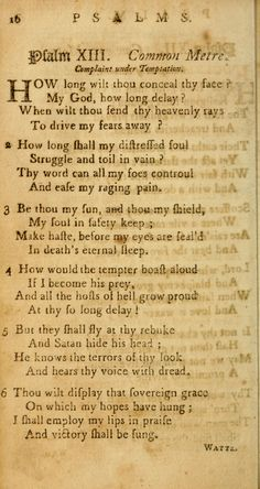 Psalm 13 | Isaac Watts