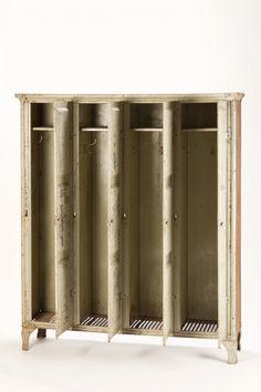 Industrial Locker-Style Metal Cabinet | okayart.com