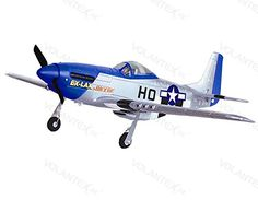 Hobby RC Airplanes - 4CH 24Ghz Mustang P51D Warbird Electric RC Airplane wBrushless Motor RTF * Find out more about the great product at the image link.