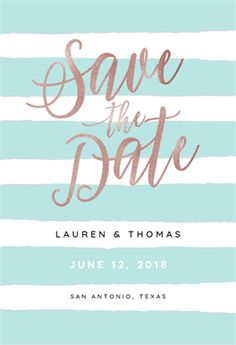 Brushed Stripes - Free Save the Date Card Template | Greetings Island