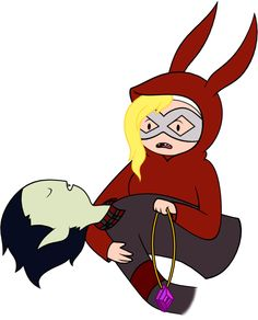 "From the episode ""Return to the nightosphere part 2"" Marshall lee and Fionna instead of Marcilene and Finn"
