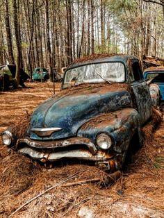Vintage Pickup Trucks, Old Trucks, Chevy Trucks, Vintage Cars, Antique Cars, Abandoned Cars, Abandoned Places, Abandoned Vehicles, Classic Trucks