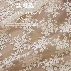 W12 ткани хлопка вышивка кружева растворимы / сетка / свадьба / съемки фон / ткань оптовой многоцветной в