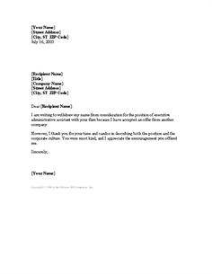 Follow up complaint letter letter template follows up with a letter withdrawing job application after accepting another offer spiritdancerdesigns Choice Image