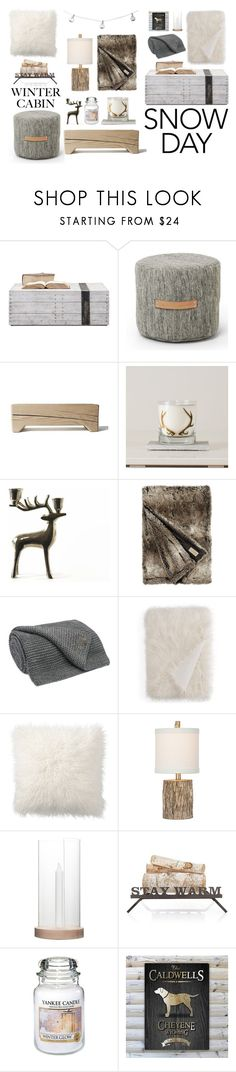"""Cozy Cabin Style"" by eva-jez ❤ liked on Polyvore featuring interior, interiors, interior design, home, home decor, interior decorating, Design House Stockholm, UGG, Hudson Park and Pottery Barn"