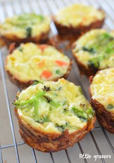 Mini Quiches with a Potato and Parmesan Crust - baby led weaning
