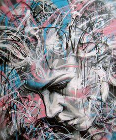 Graffiti : Portrait d'une femme by David Walker David Walker, Walker Art, Amazing Street Art, Amazing Art, Graffiti Art, Portrait Art, Portraits, Urbane Kunst, Spray Paint Art