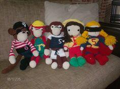 Gehaakte apen en poppen, einde schooljaar