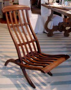 Antique Steamer Deck Chair