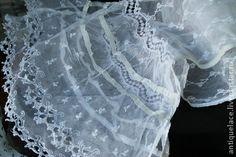 Старинный кружевной шарф. - белый,материалы для творчества,кружево,кружева