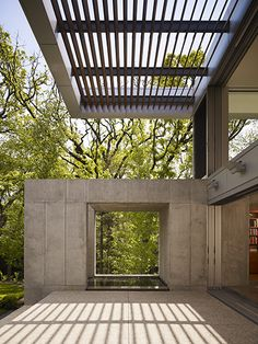 Hinsdale House by Wheeler Kearns Architects pergola