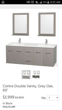 Images Photos Design Element Moscony White inch Double Sink Vanity Set by Design Element Vanity set