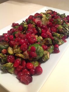 Roasted Brussel Sprouts with Cranberry Sauce - Fit Paleo Mom