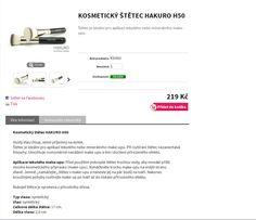 ŠTĚTEC NA MAKE UP ROVNÝ Hakuro H50 štětec na make up