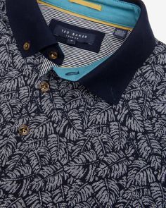 Printed polo shirt - Navy | Tops & T-shirts | Ted Baker. Castelijn Fashion & Denim .