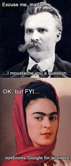 Nietzsche vs. Frida Kahlo pun