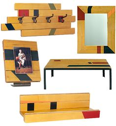 """Make your own with salvaged gym floor  """"Project Packs"""", prices range from $15 - $30, at Crescent Moon Antiques and Salvage.com and Facebook."""