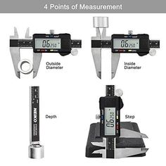 Caliper Digital 12 Inches LCD Screen Electronic Three Measuring Modes Micrometer #Digital