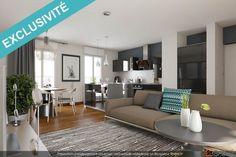 Vente appartement 3  pièces 65  m² Chennevières sur Marne (94) - 260000  €