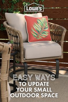 Don't skimp on style! Here's how to transform your small outdoor space with outdoor furniture and accessories.