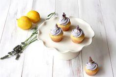 Lavender cupcakes, lemon curd filling, lavender honey frosting