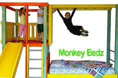Kids Jungle Bed  Childrens bed and indoor playground by MonkeyBedz, $1650.00