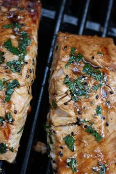 Grilled Salmon with Asian Mint Dressing. (Use coconut aminos instead of soy sauce)