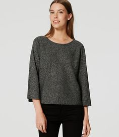 Petite Speckled Sweater