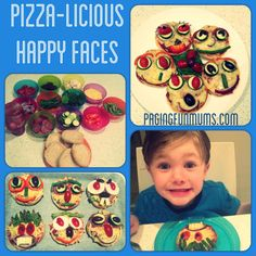 Pizza-licious Happy Faces! A fun (and healthy) dinner idea for the kiddies!