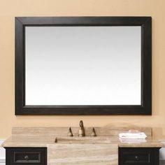 "James Martin 206-001-5922 Boston 47"" birch grade A wood Mirror In Black"