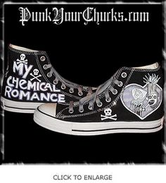 3e5305b0de74f7 My Chemical Romance Custom Converse Sneakers